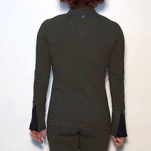Jackets & Blazers - Olive green active jacket and legging set